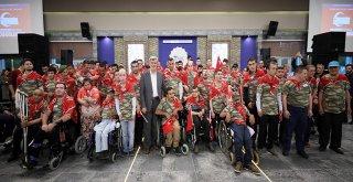 120 engelli gence askerlik kınası yakıldı