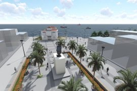 Mudanya Belediyesi Mütareke Meydanı'nı yeniliyor.