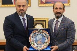 Başkan Aktaş,son ziyaretini Yıldırım Belediyesi'ne yaptı.