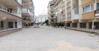 Mudanya'da 10 bin metrekare parke taşı döşeniyor