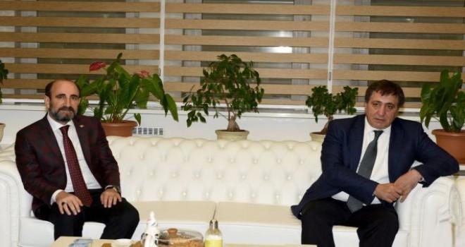 Başkan Edebali Vali İzzettin Küçük'ü ağırladı