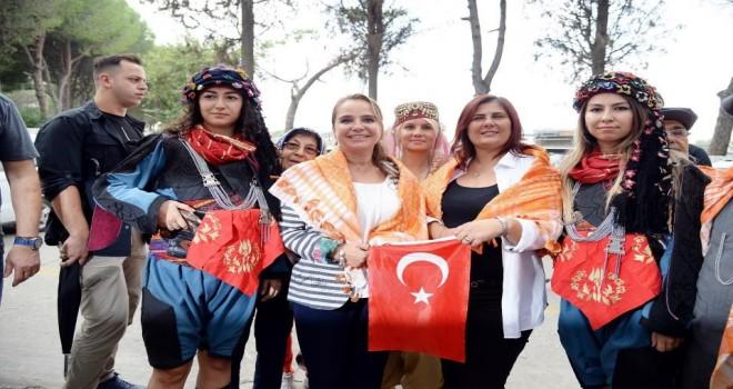 Çerçioğlu ,Aydın Ulusal Yörük Türkmen Şenliği'ne katıldı.
