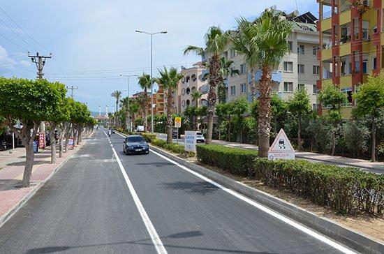 Alanya İstiklal Caddesi modern yüzüyle hizmette