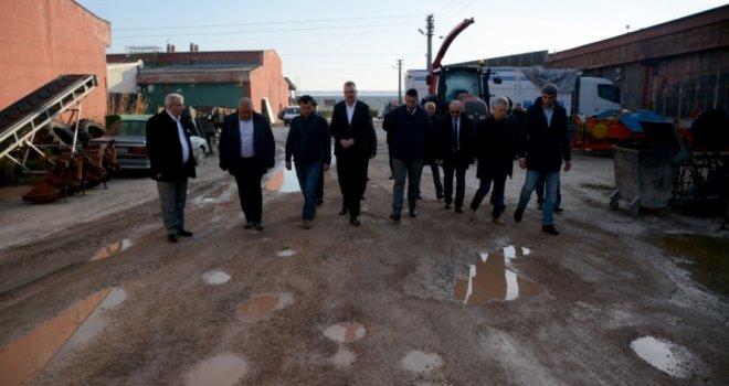 Başkan Özkan sanayi esnafını dinledi
