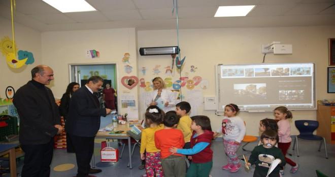 Belediye Başkanı Cemal Akın'ndan okul ziyaretleri