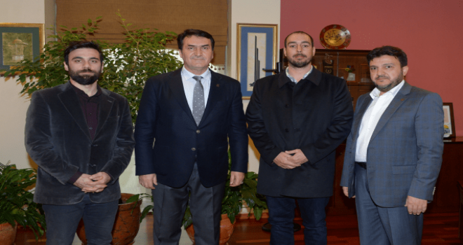 Kaykay Federasyonu Başkanı Çelenk'ten Dündar'a Ziyaret