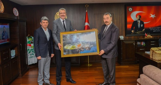 Başkan Ali Özkan'dan İl Emniyet Müdürü Osman Ak'a Ziyaret