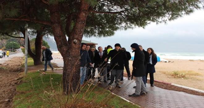 Başkanı  Akın,inkumu Ön Arıtma Tesisinde incelemelerde bulundu