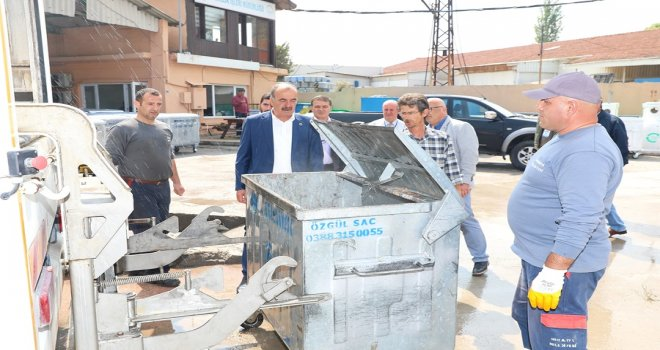 Mudanya'da çöp konteynırlarınının sayısı arttı