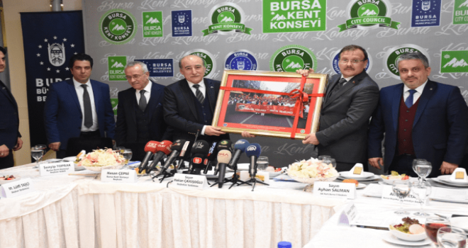 Bursa Kent Konseyi,Çavuşoğlu'nu konuk etti