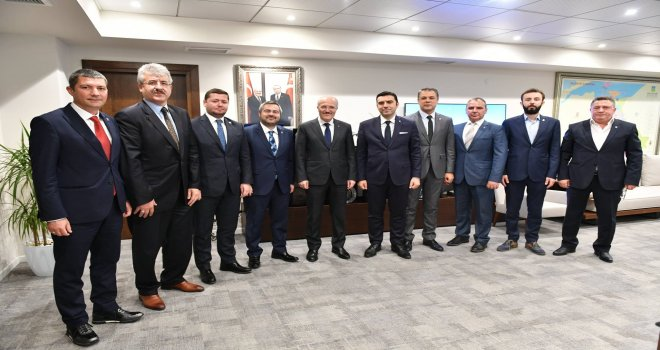 Balıkesir Ticaret Odası'ndan  Başkan Zekai Kafaoğlu'na nezaket ziyareti