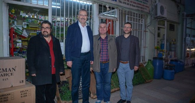 Ali Özkan, esnaf ziyaretlerine devam ediyor