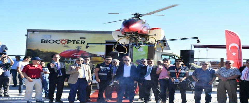 Balıkesir'de  Drone ile İlaçlama Dönemi