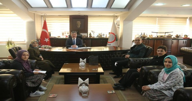 Amasya Belediye Başkanını ziyaret ettiler.