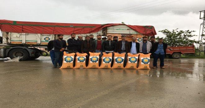 Çiftçilere 30 ton gübre desteği