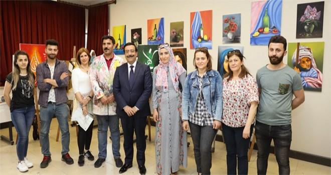 Başkan Atilla'dan  kursiyerlere tebrik ziyareti