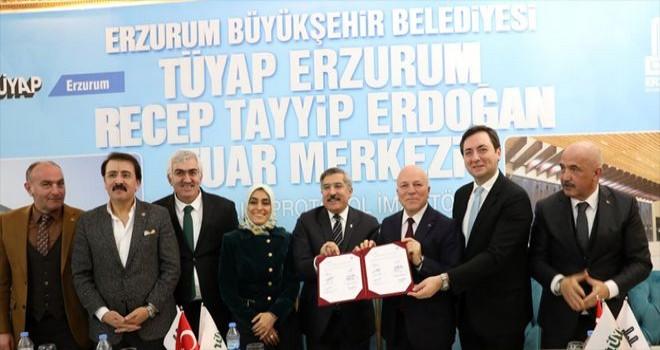 Erzurum Büyükşehir Belediyesi, TÜYAP A.Ş. ile işbirliği protokolü imzaladı.