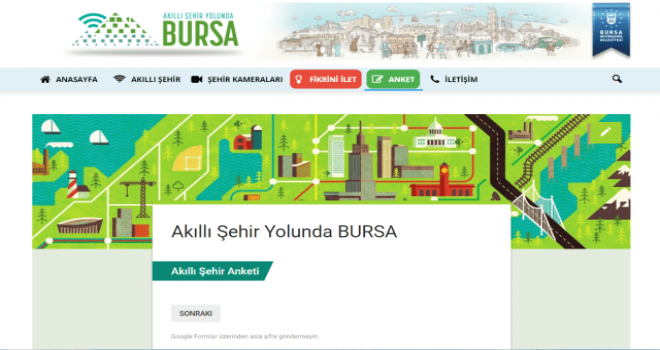 Bursa Büyükşehir 'Akıllı Şehir' için fikir bekliyor.