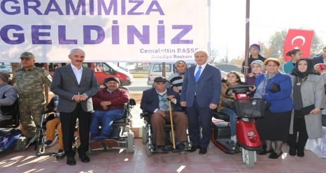 Erzincan Belediyesi,engellileri unutmadı.