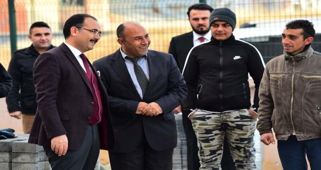 Uşak Belediyesi Malkoçoğlu'nun sorunlarını çözdü.