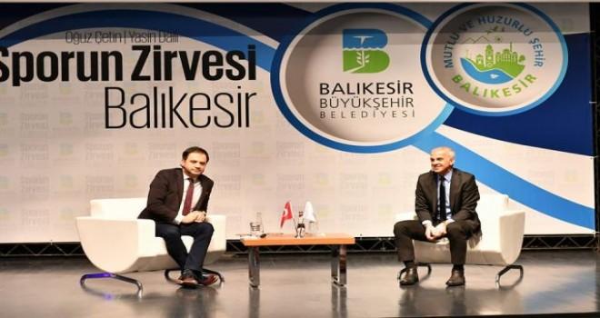 Balıkesir'de Sporun Zirvesi konuşuldu.