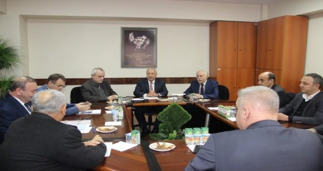 Zonguldak Belediye Başkanı Muharrem Akdemir koordinasyon toplantısı düzenledi.